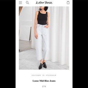 & other stories // light blue high waist jeans